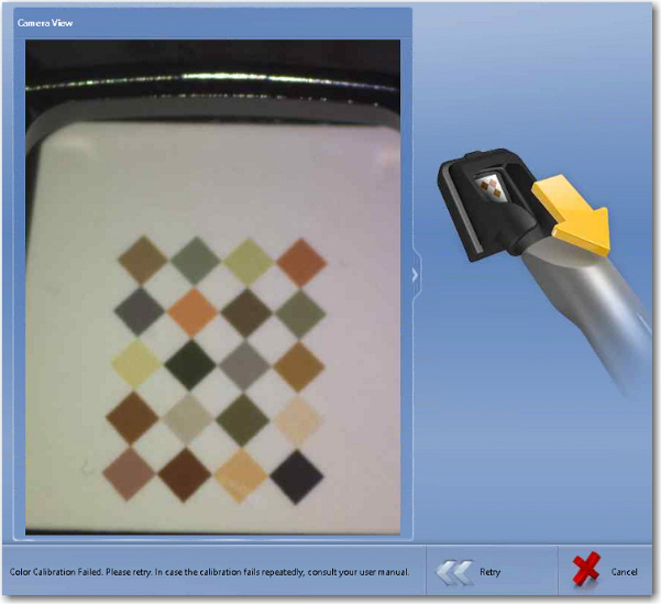 color calibration steps for omnicam shade guide