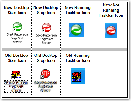 Database Server Icons for Version 16 and Above