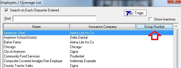 Search Employers by Group Number or Insurance Company