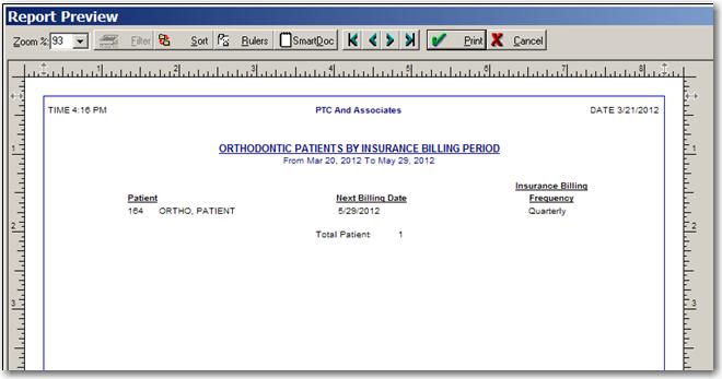 Orthodontic Setup and Billing