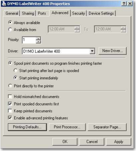 DYMO 330 LabelWriter - Installation Instructions and Settings
