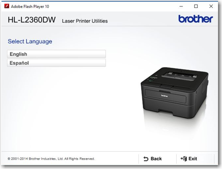 Brother HL-L2360DW Printer Installation Instructions