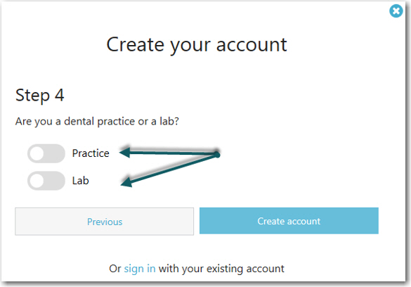 Create 3Shape Communicate Account for Lab and Practice